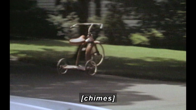 Still image from The Remarkable Riderless Runaway Tricycle