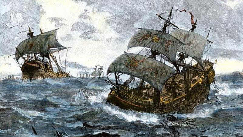 Still image from The Spanish Armada