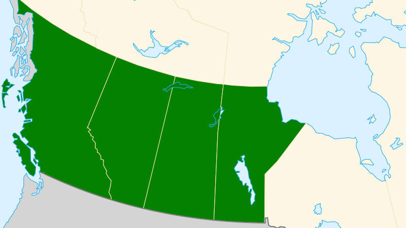 Map Of Western Canada Provinces.The Western Canadian Provinces