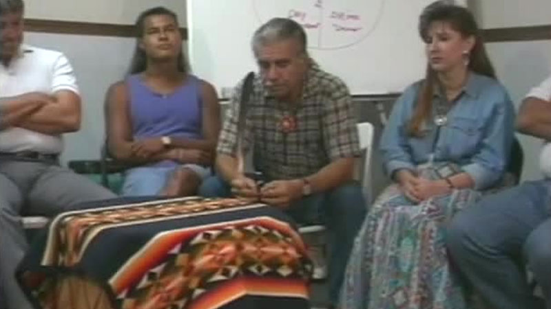 Still image from The Red Road To Sobriety: Video Talking Circle