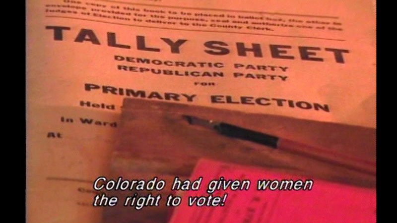 Still image from Bloomers To Ballot