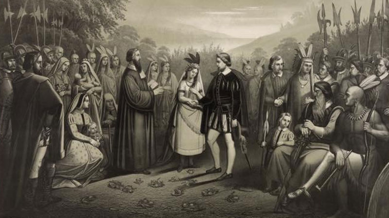 Still image from The Marriage Of Pocahontas