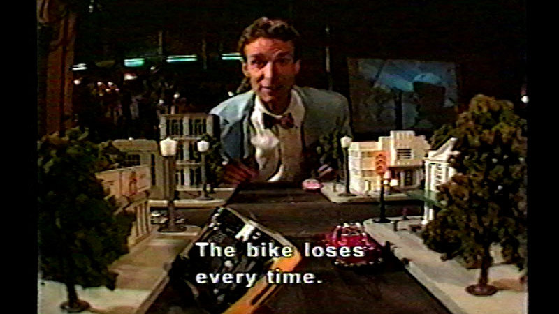 Still image from Bike Safety With Bill Nye The Science Guy