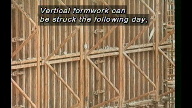 Still image from Concrete Construction - Unit 11: Curing And Protecting Concrete And Striking Formwork