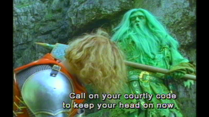 Still image from Gawain And The Green Knight
