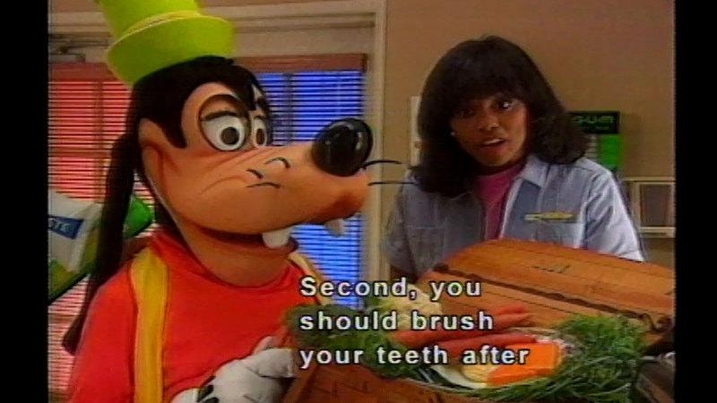 Still image from Goofy Over Dental Health