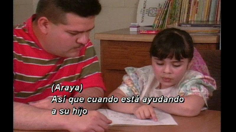 Still image from Helping The Beginning Reader (Spanish)
