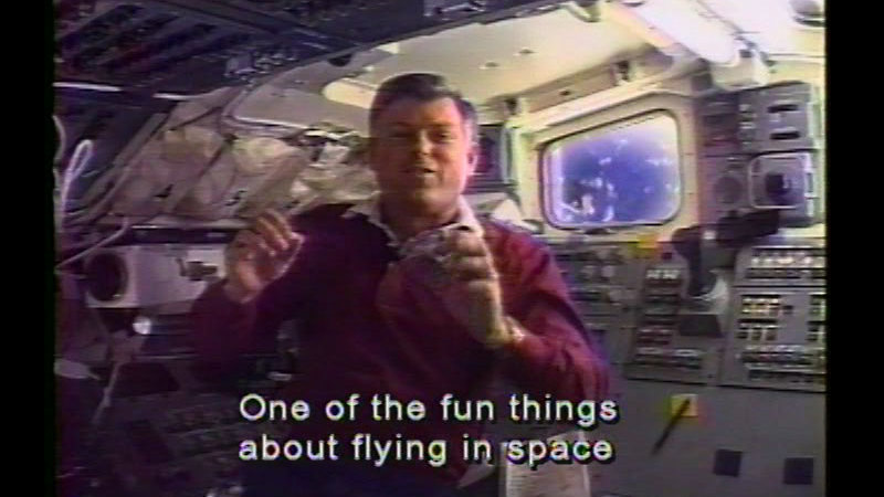 Still image from Living In Space/Newton In Space