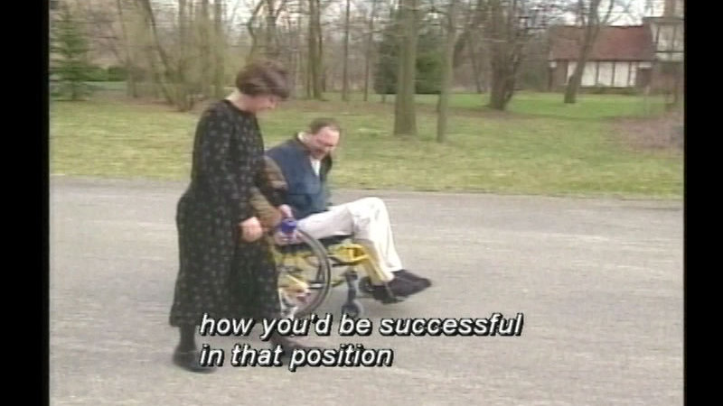 Still image from Access Unlimited: The Disabled & The Job Interview