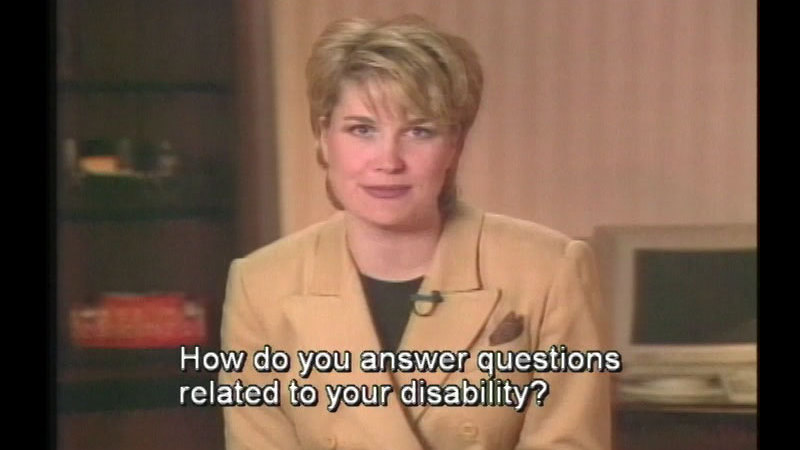 Still image from Access Unlimited: The Disabled & Resumes And Applications
