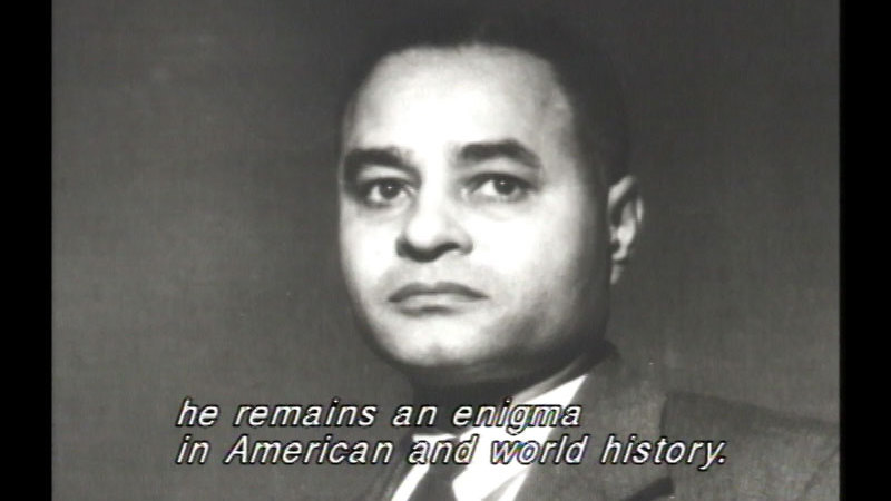 Still image from Ralph Bunche:  An American Odyssey