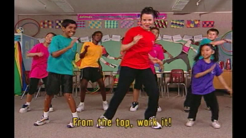 Still image from Fit Kids Classroom Workout