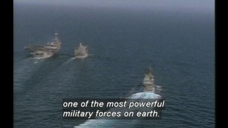 Still image from Battle Alert In The Gulf