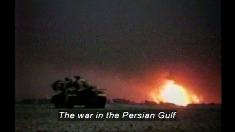 Still image from The Gulf  War
