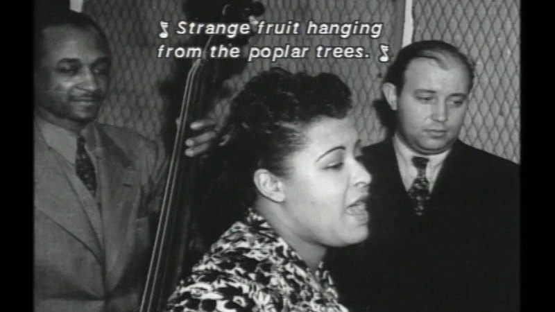 Still image from Strange Fruit