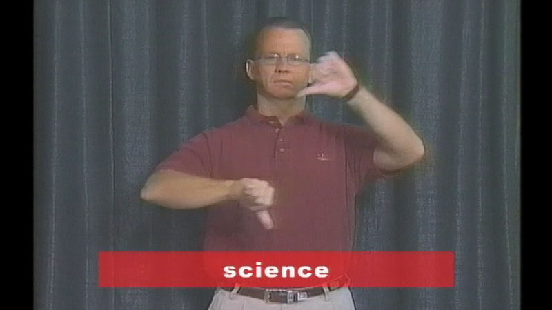 Still image from Vocabulary Builders In Sign Language: Science