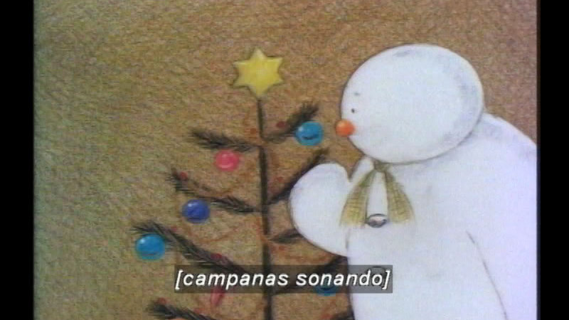 Still image from The Snowman (Spanish)