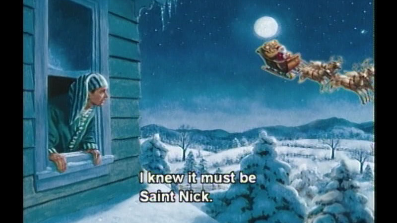Still image from The Night Before Christmas