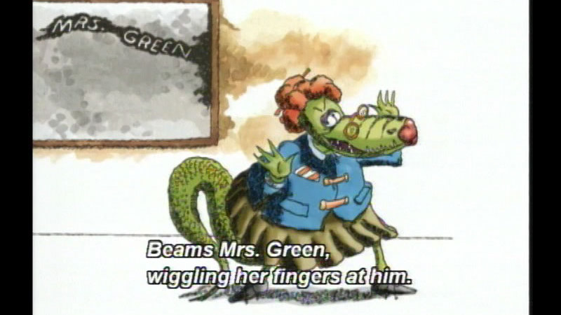 Still image from The Teacher From The Black Lagoon