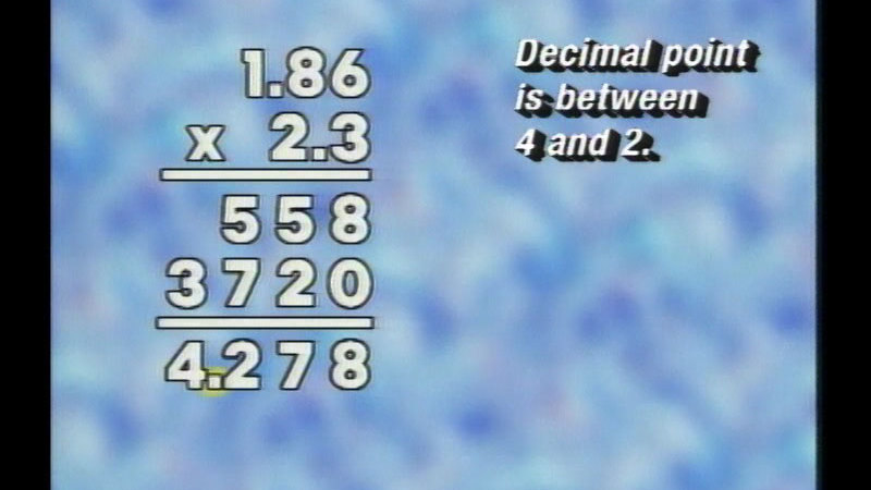 Still image from Basic Math: Working With Decimals