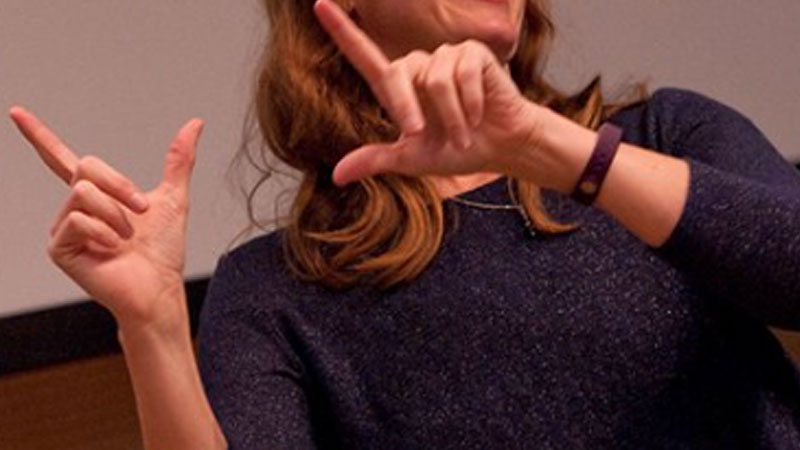 Still image from Second Language Proficiency With Academic ASL