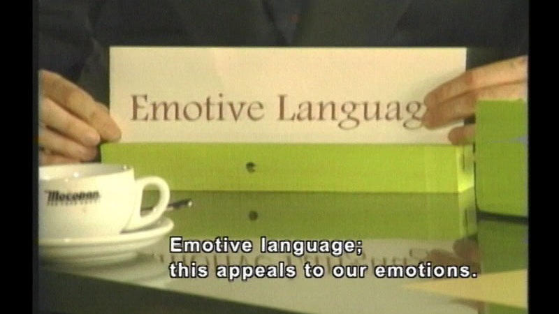 Still image from Persuasive Language