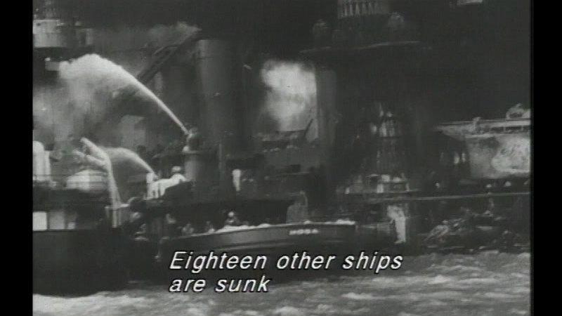 Still image from Pearl Harbor & World War II