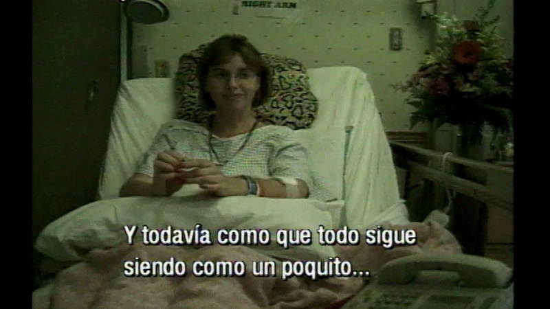 Still image from A Difficult Journey: My Fight Against Cancer (Spanish)