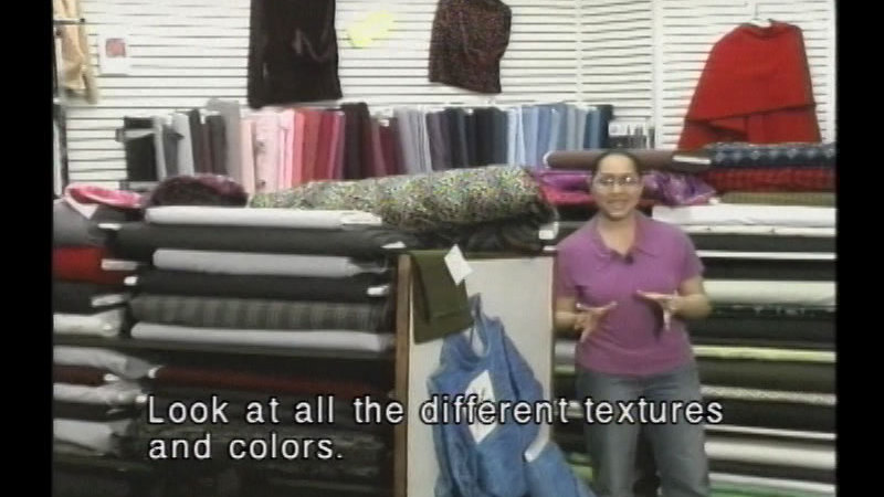 Still image from A Tour Of A Fabric Store