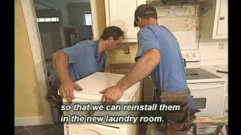 Still image from Kitchen/Laundry Remodel
