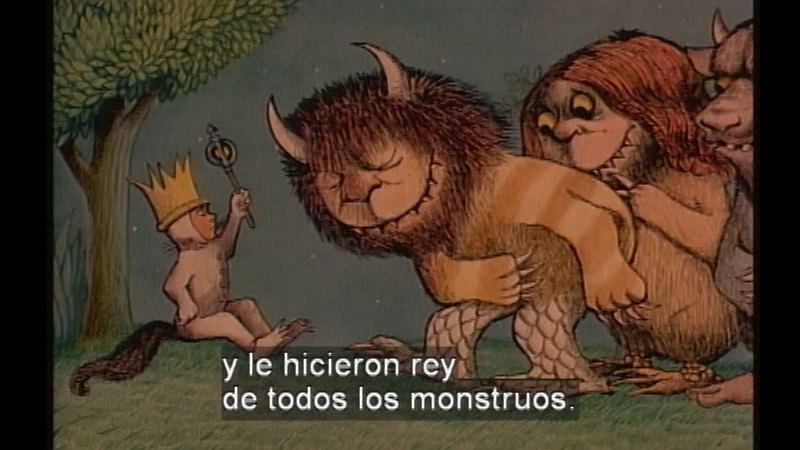 Still image from Where The Wild Things Are (Spanish)