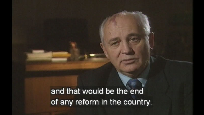 Still image from Mikhail Gorbachev:  A Man Who Changed The World