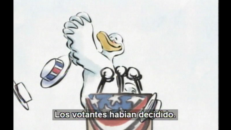 Still image from Duck For President (Spanish)