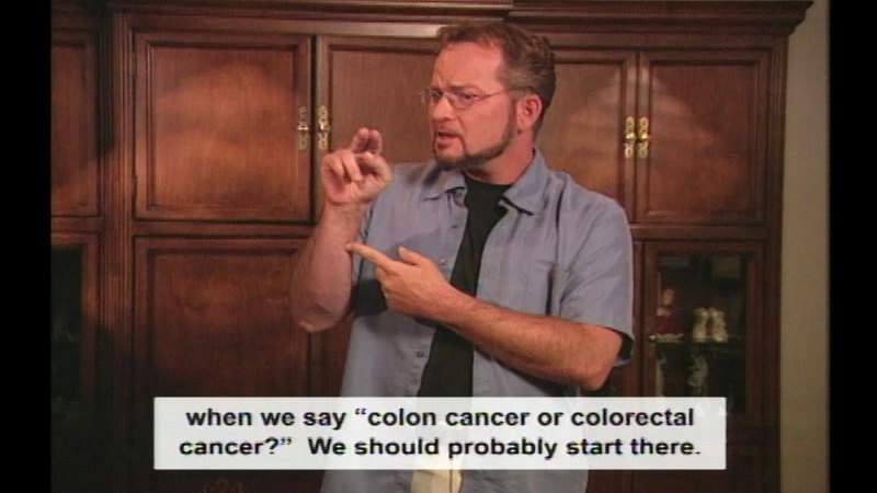Still image from Colorectal Cancer: Take Action!