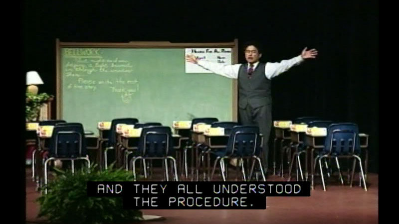 Still image from The Effective Teacher With Harry K. Wong, Part 4: Procedures And Routines