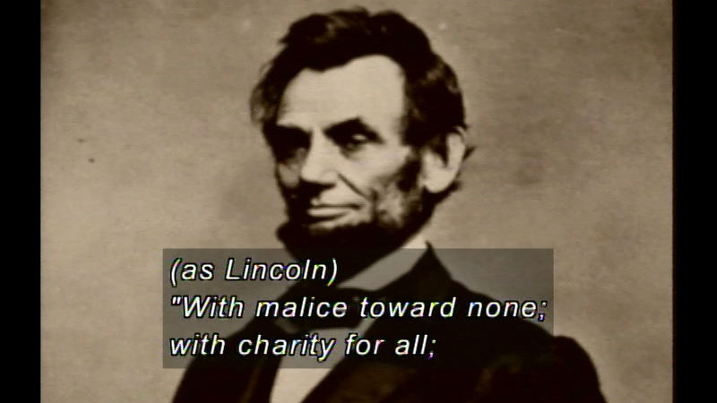 Still image from Abraham Lincoln