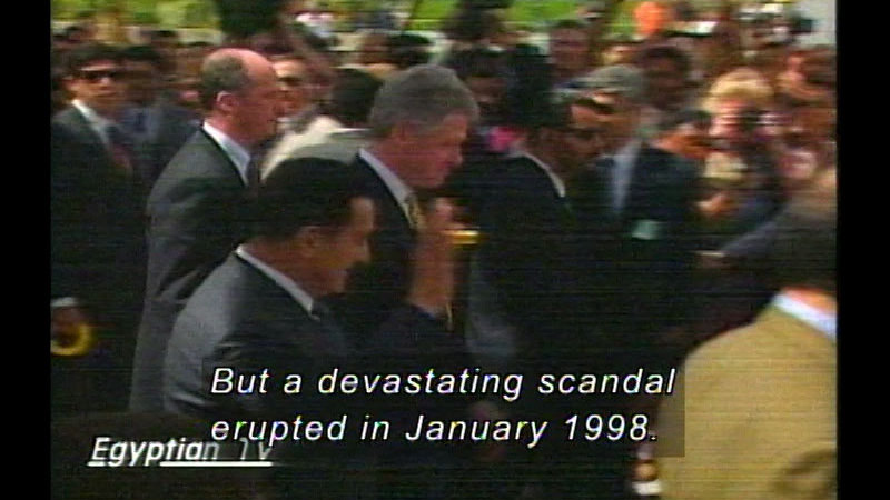 Still image from Clinton & G.W. Bush