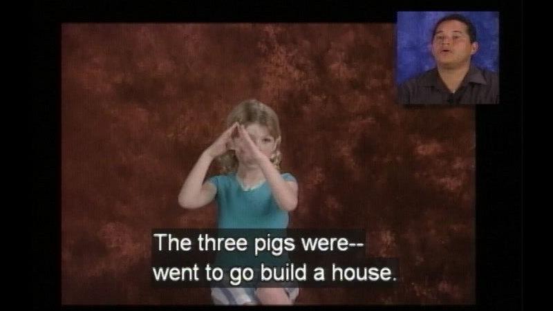Still image from Educational Interpreting Series, Program #1A: Bold as Brianna