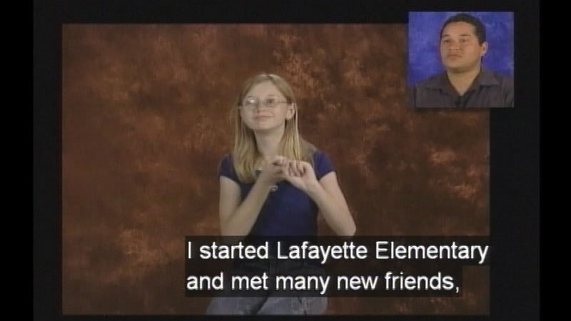 Still image from Educational Interpreting Series, Program #1C: Lydia's Lessons