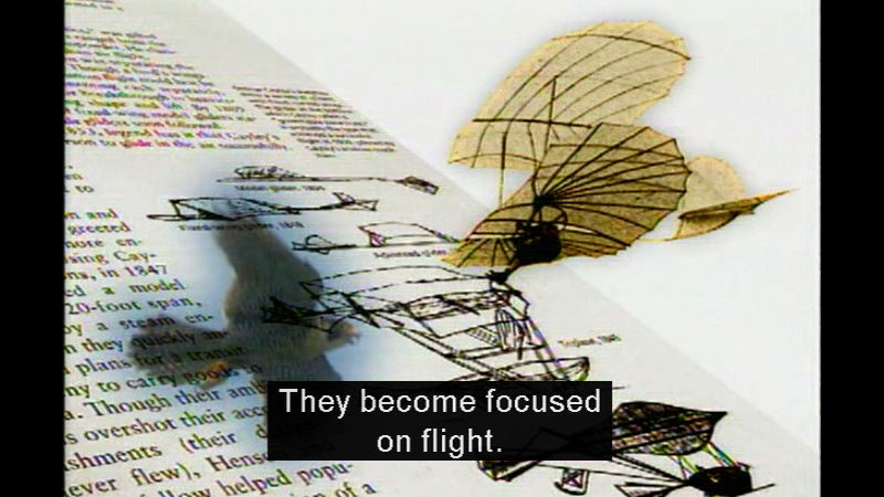 Still image from Inventing Flight For Schools: History Of Flight Videos