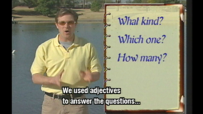 Still image from Adjectives