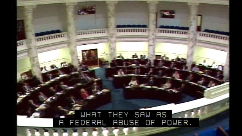 Still image from Federalism: U.S. V. The State