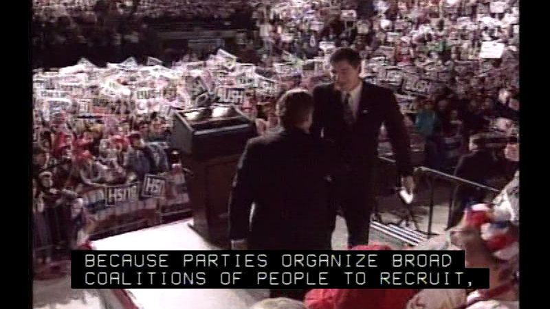 Still image from Political Parties: Mobilizing Agents