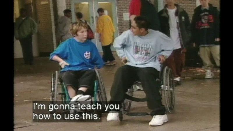 Still image from Wheelchair Challenge