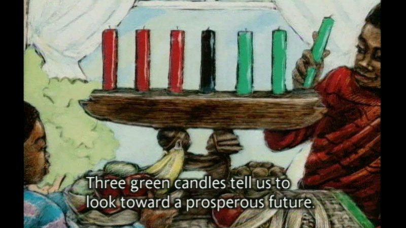 Still image from Seven Candles For Kwanzaa