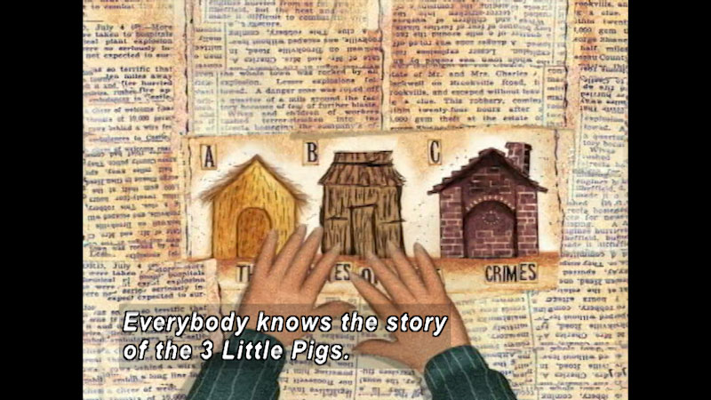 Still image from The True Story Of The 3 Little Pigs