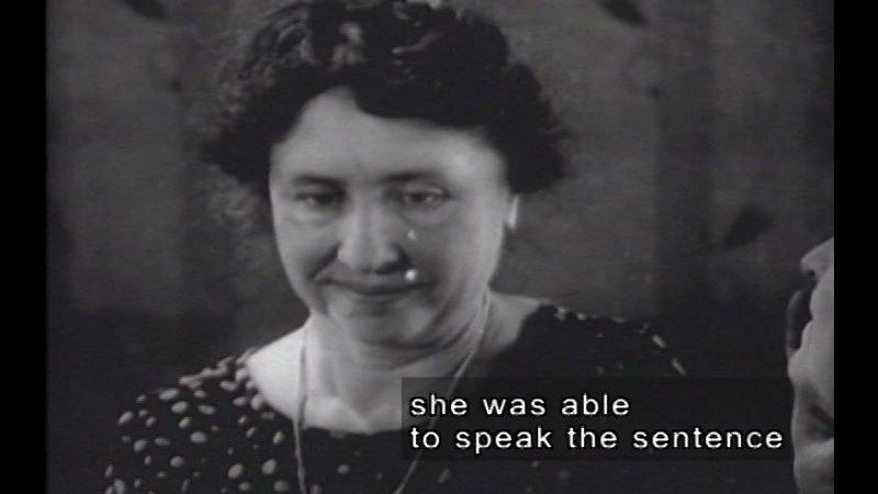 Still image from Helen Keller And Anne Sullivan (1928 Newsreel Footage) & Helen Keller Meeting First Lady Grace Coolidge (1926 Newsreel Footage)