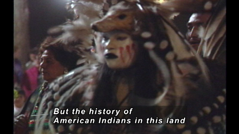 Still image from A History Of American Indian Achievement: American Indians Populate The North American Continent