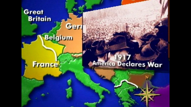 Still image from Talking Maps: World War I