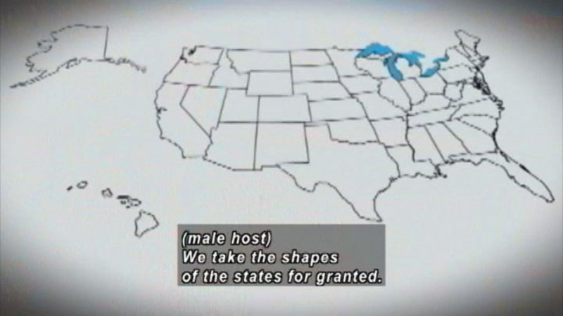 Still image from How The States Got Their Shapes